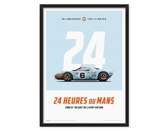 Ford GT Le Mans 50th Anniversary-First Le Mans win poster