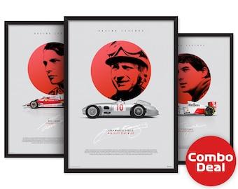 Racing Legends 3 posters combo