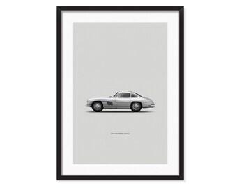 1955 Mercedes Benz 300SL, Gullwing poster