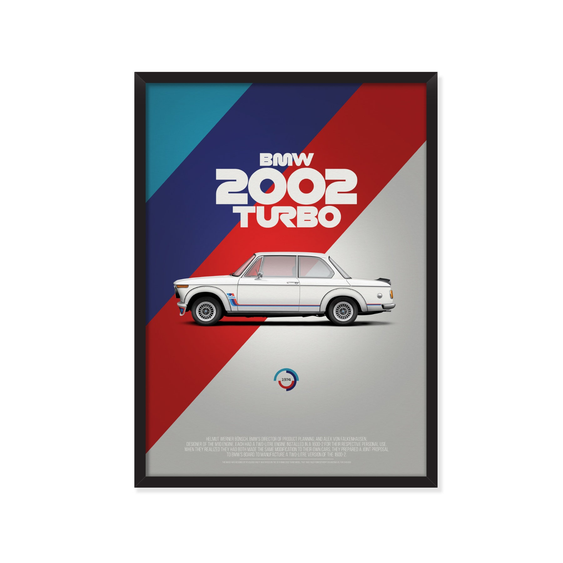 BMW 2002 turbo (Texaco version) poster