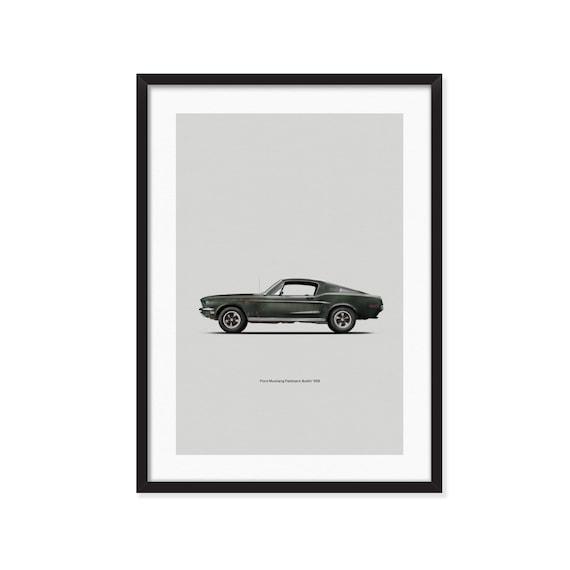 1968 Ford Mustang Fastback / Bullitt poster