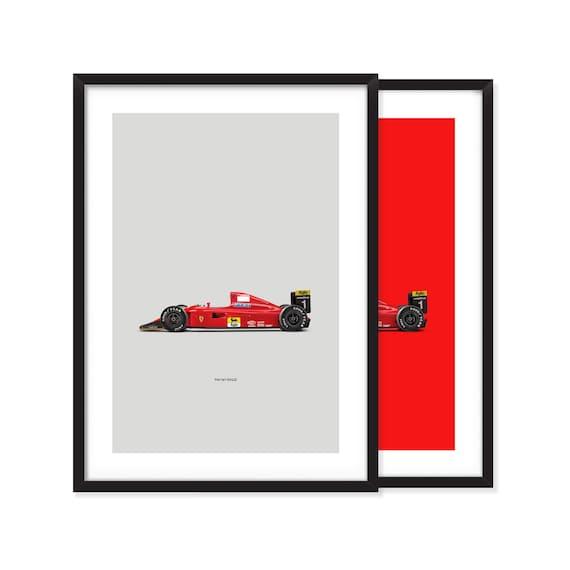 Ferrari F1-90 poster
