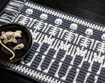 Bonez Mosaic Crochet Skeleton Pattern Chart by Sixel