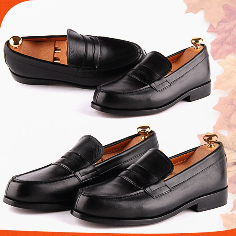 2c5ceb5b17407 100% leather 1980 s college Orjani Mens moccasin loafers black moccasins  mens loafers shoes from the 80s