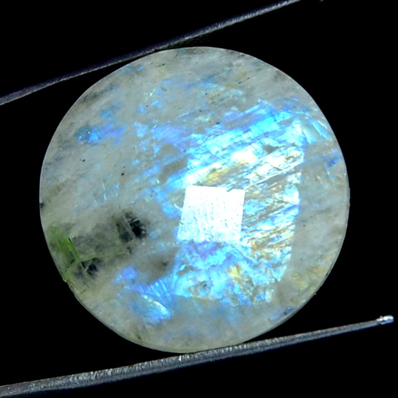 Mix Shape Briolette faceted Gemstone Buy 5 Item Get 50/% Off Great Natural Blue Flace Chaker Cut Rainbow Moonstone