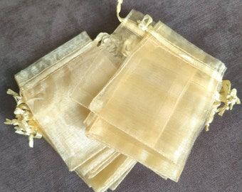 Wholesale 100X Organza Rose Gold Organza Gift bag Candy Jewelry Pouch 18X13cm