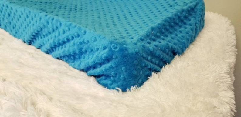 Standard Changing Pad Cover Minky Dimple Dot Cuddle Peacock Blue