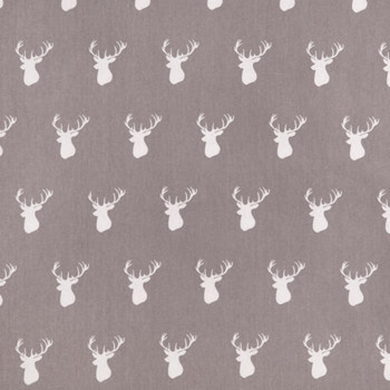 Custom Made Standard Changing Pad Cover Gray Deer Heads