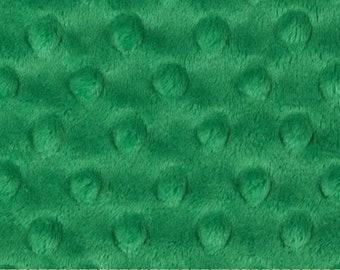 Throw Blanket  Minky Dimple Dot Emerald Green