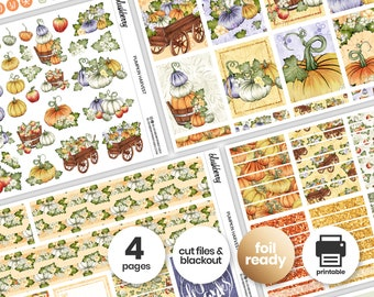 Thanksgiving Printable Weekly Kit, Pumpkin Stickers, Thanksgiving Weekly Stickers, Weekly Sticker Kit, Thanksgiving Planner, Fall Stickers