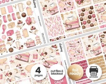 Planner Girl Printable Weekly Kit, Planner Stickers, Pink And Gold Weekly Stickers, Weekly Sticker Kit, Planner Addict, Feminine Stickers