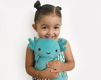 Hermelindo, axolotl plush toy / ajolote / cuddly plush / plushie / gifts for kids /endangered plush toys / endangered animals