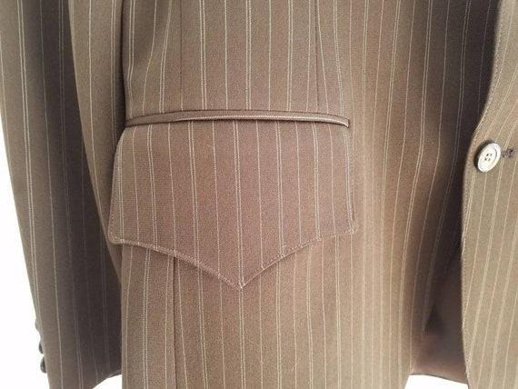 Vintage Mens H Bar C Pinstripe Jacket Sportcoat - image 8