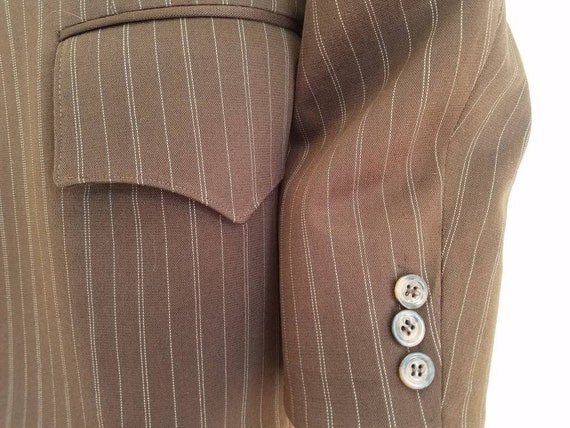Vintage Mens H Bar C Pinstripe Jacket Sportcoat - image 3