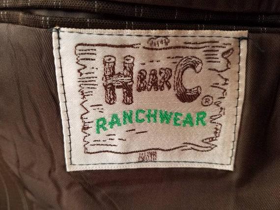Vintage Mens H Bar C Pinstripe Jacket Sportcoat - image 6