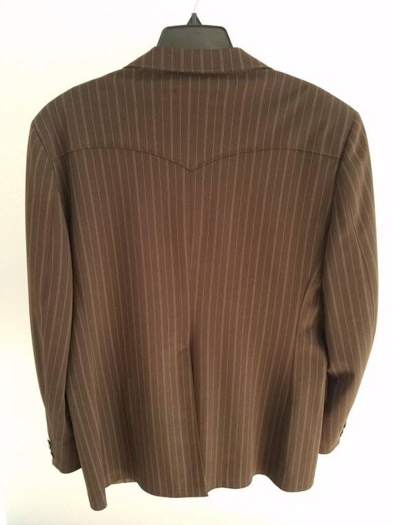 Vintage Mens H Bar C Pinstripe Jacket Sportcoat - image 7