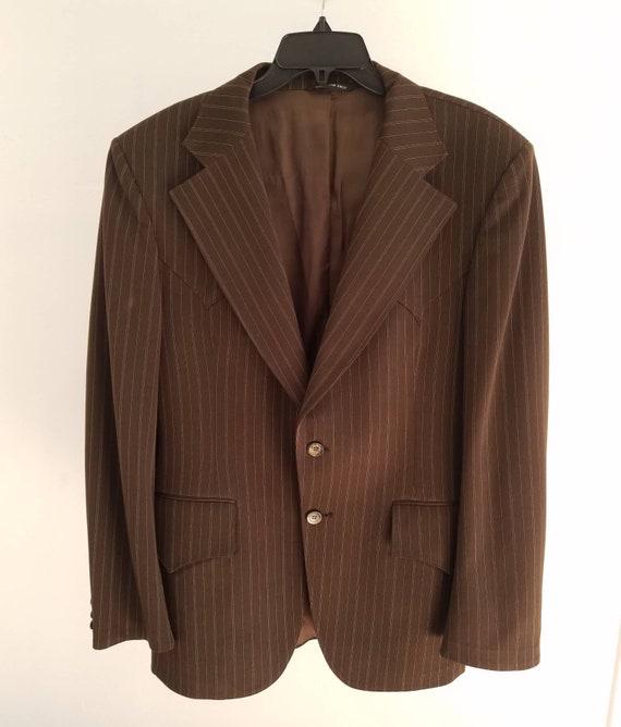 Vintage Mens H Bar C Pinstripe Jacket Sportcoat