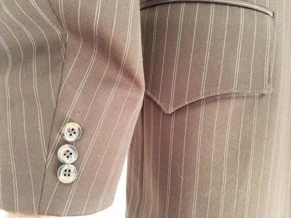 Vintage Mens H Bar C Pinstripe Jacket Sportcoat - image 2