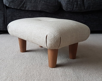 Brilliant Small Footstool Etsy Machost Co Dining Chair Design Ideas Machostcouk