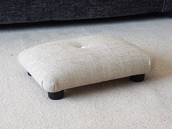 Small Under Desk Footstool With Button Small Footstool Etsy