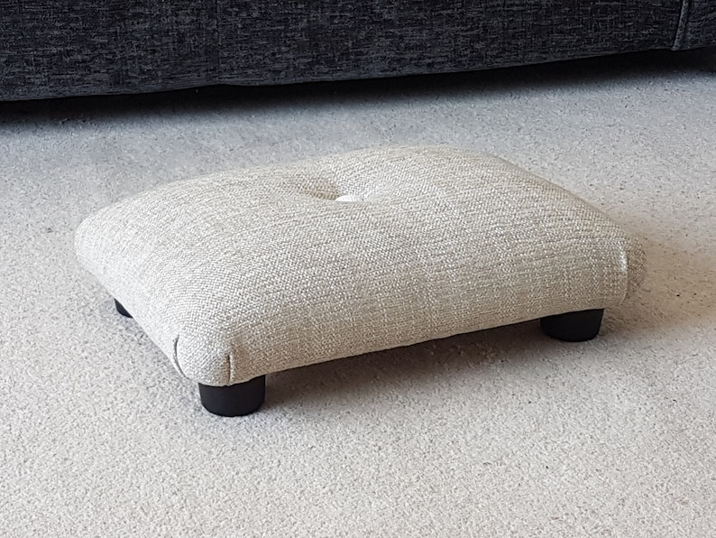 Amazing Small Under Desk Footstool With Button Small Footstool Upholstered Footstool Foot Stool Handmade Footstool Stool Footrest Pdpeps Interior Chair Design Pdpepsorg