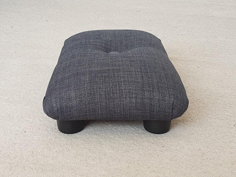 10 cm Under Desk Little buttoned Footstool  small footstool  upholstered footstool  upholstered stool  handmade footstool  footrest