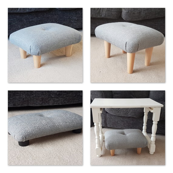 Small Footstool Or Under Desk Step With Button And Feet Etsy