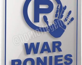 sign: warponies only (reflective)