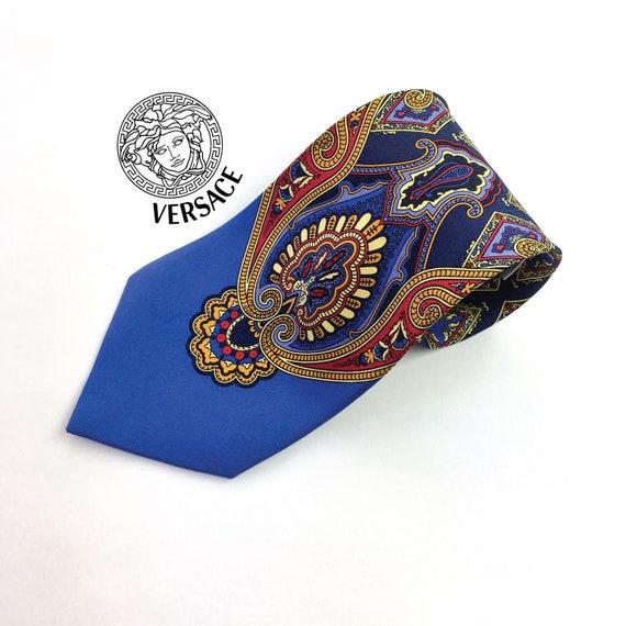 Vintage 100% silk VERSACE tie. Baroque motifs in s