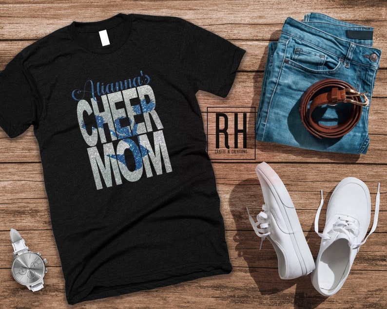 e990e9ae501d0 Personalized Cheer mom shirt / cheer mom / child's name / choose colors /  nationals competition Cheer shirts