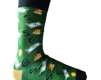2da064dbdc38 Mens Money Cash Design Socks