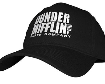 b47f355f2fe Dunder Mifflin Paper Company INC - Embroidered Cotton Twill Baseball Cap Hat