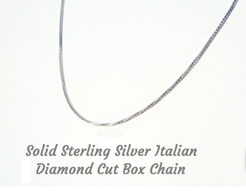 Sterling Silver 925 Italy 2.00mm 8-Sided Diamond Cut Box Necklace Solid Chain