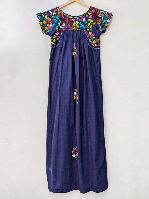 Embroidered Mexican Maxi Dress // vintage embroid… - image 7