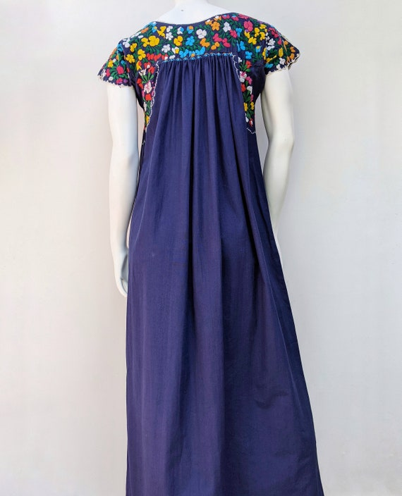 Embroidered Mexican Maxi Dress // vintage embroid… - image 6