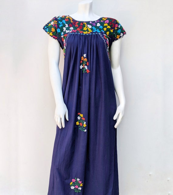 Embroidered Mexican Maxi Dress // vintage embroid… - image 2