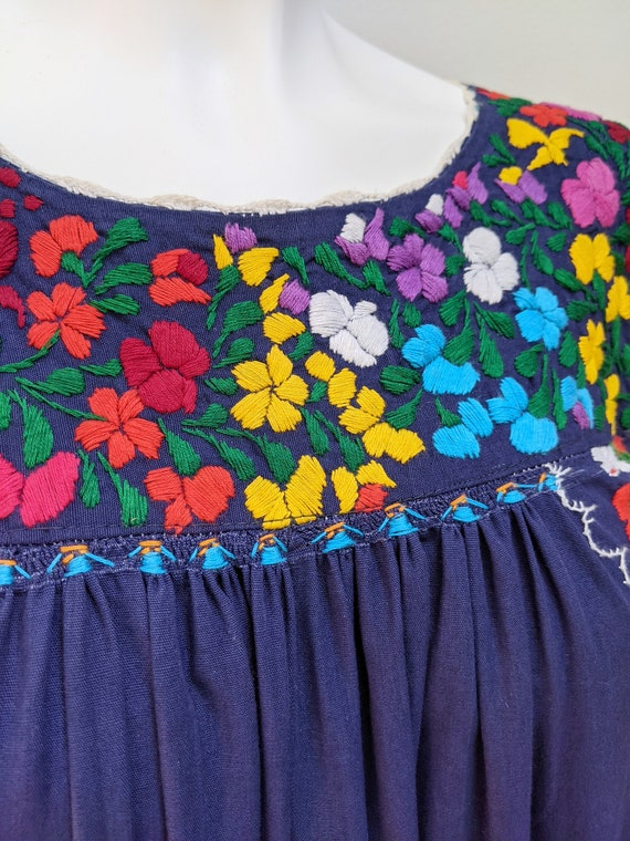 Embroidered Mexican Maxi Dress // vintage embroid… - image 4