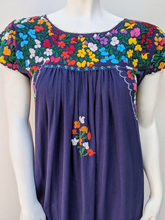 Embroidered Mexican Maxi Dress // vintage embroid… - image 3