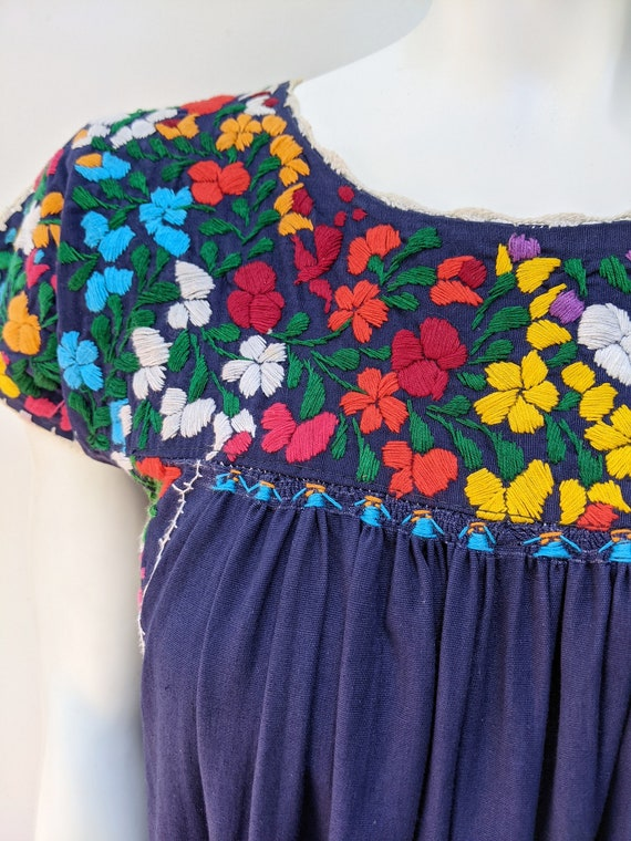 Embroidered Mexican Maxi Dress // vintage embroid… - image 5