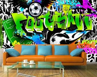Fussball Tapete Etsy