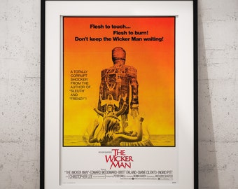 The Wicker Man 1973  Movie Film Poster | A4/A3 Framed Options Available