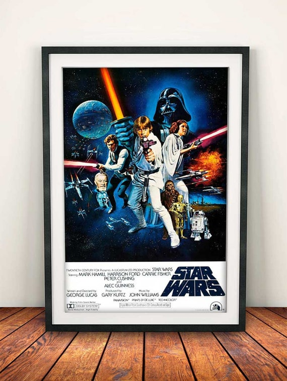 Star Wars Episode Iv A New Hope 1977 A4 Movie Film Poster Etsy