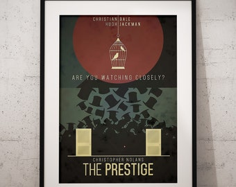 The Prestige  Movie Film Poster   A4/A3 Framed Options Available