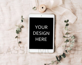 Download Free Styled tablet mockup, PSD, iPad template to show text, stock photo, iPad mock up, iPad mockup, smart object, digital, #029 PSD Template