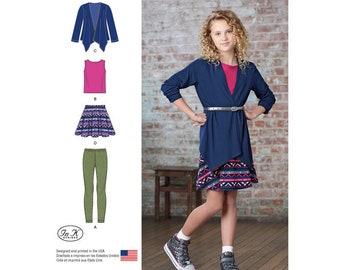 6fa586ebf38 Simplicity 8184 Girls    Girls  Plus Skirt and Knit Leggings