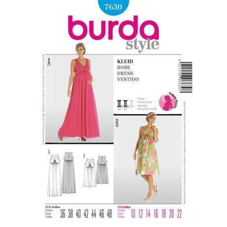 1ccac3d070331 Burda 7630 Misses Maternity Dresses Sewing Pattern Size | Etsy