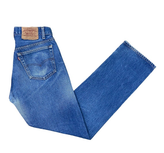 Levis 501 Jeans 80s Light Blue Washed Straight Leg