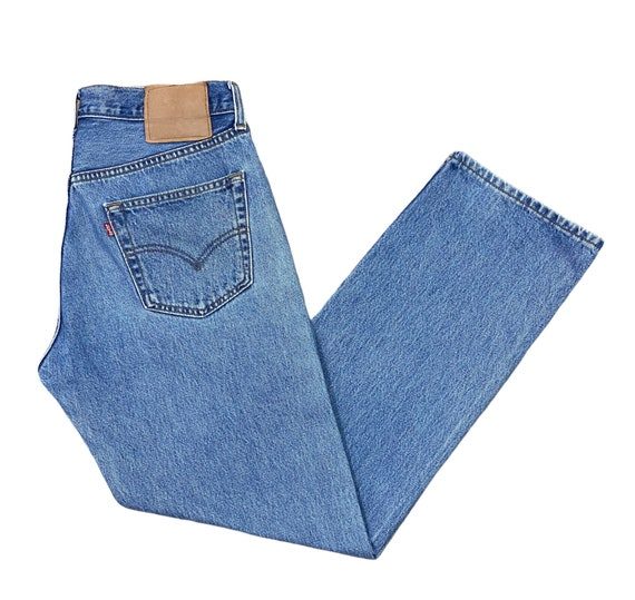 Levis 501 Jeans 90s Light Blue Washed Straight Wid