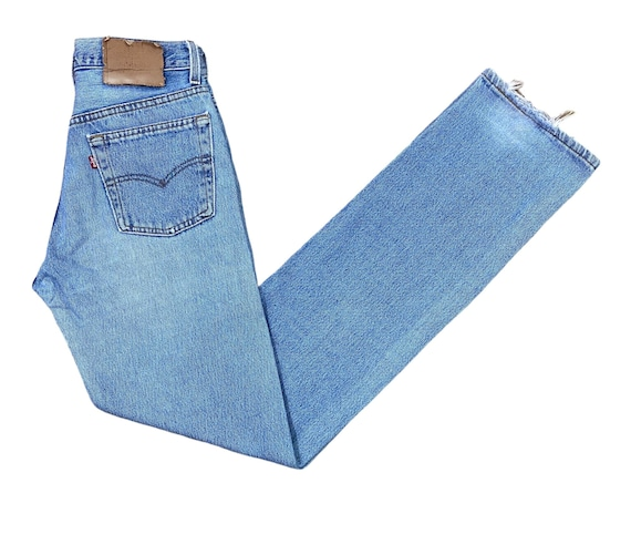 Levis 501 Jeans 90s Light Blue Washed Straight Leg