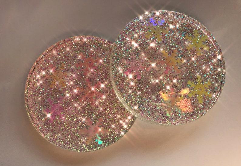 Coaster Paper Weight Resin Coaster Set Petri Dish Christmas Coaster